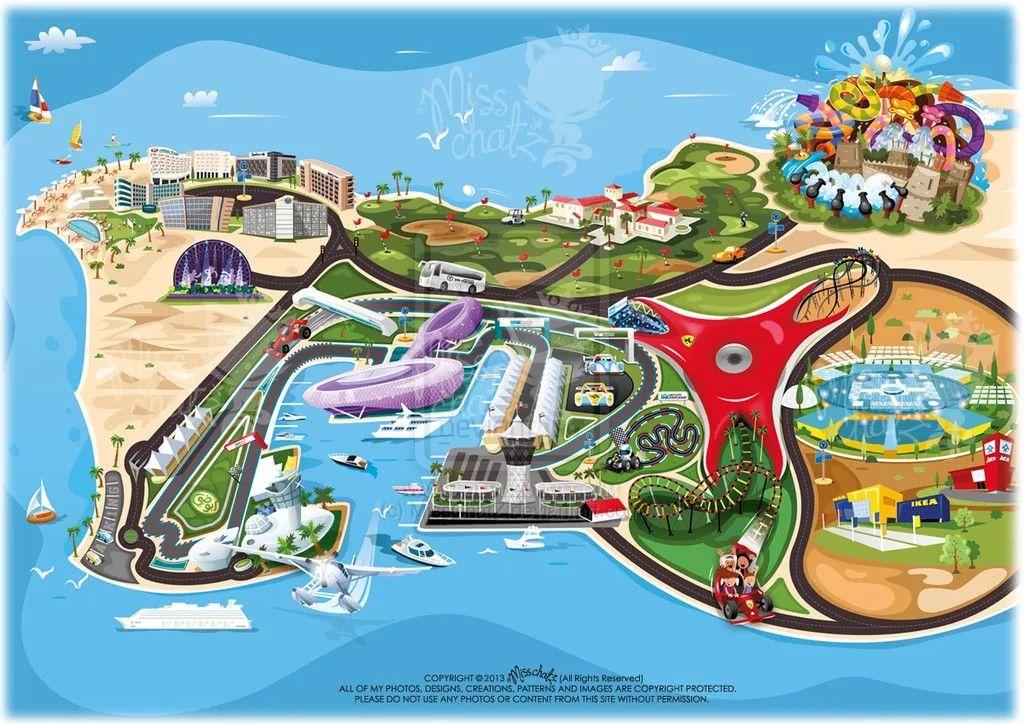 Abu Dhabi Yas Island Ferrari World Abu Dhabi Abu Dhabi Ferrari World