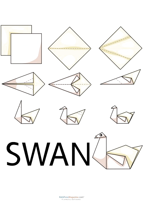 Photo of Fold origami swans for your next party or event! The perfect free decoration tha…