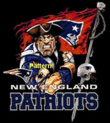 New England Patriots Mascot Etc Cross Stitch Pattern Paper Version Or Pdf New England Patriots New England Patriots Football Patriots Football
