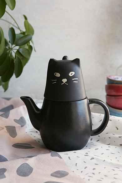 Black Cat Tea-For-One Set