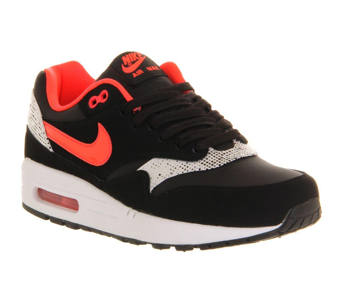 Nike Air Max 1 (l) Black Laser Crimson White Hers trainers