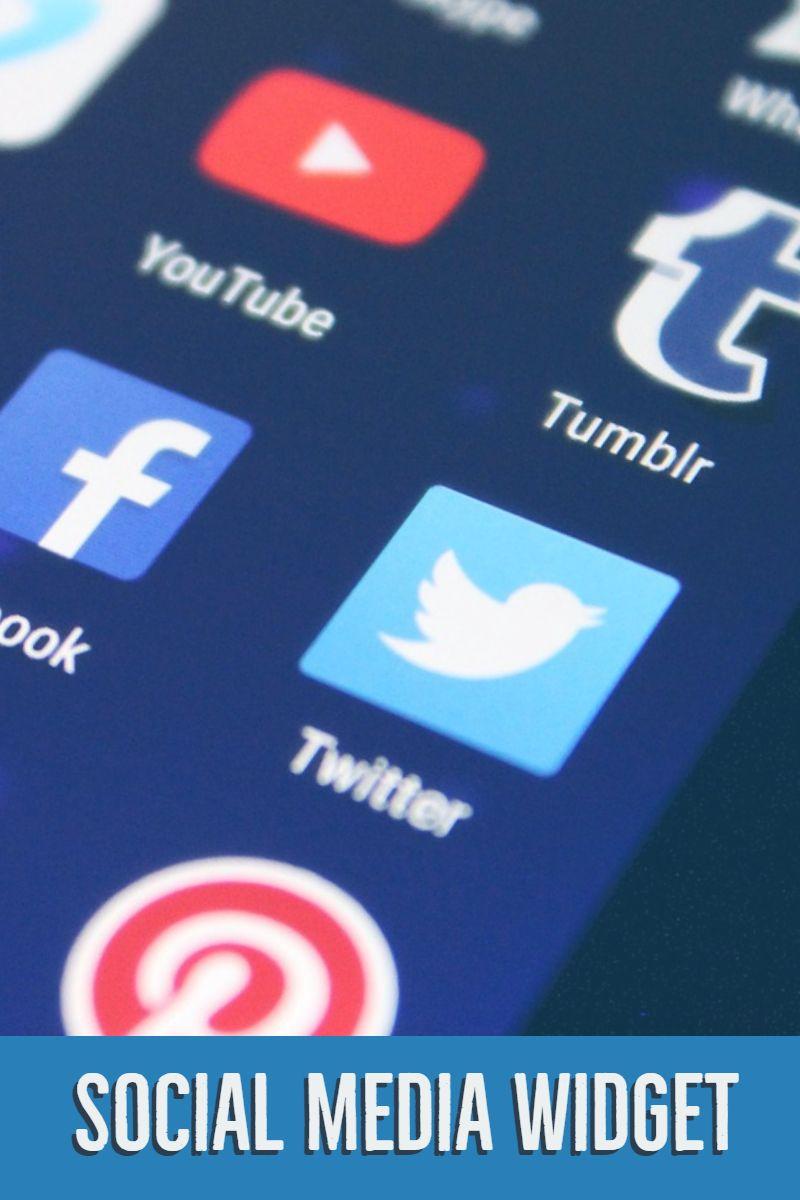 Social Media Widget WordPress Plugin | Poster Design