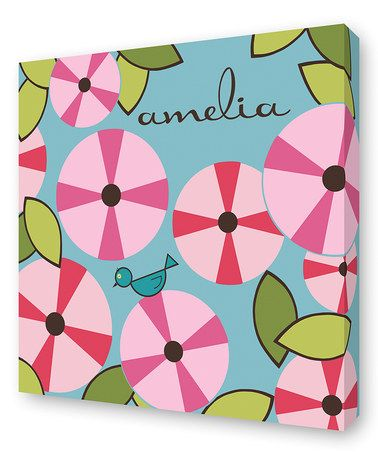 Take a look at this Garden Petal Personalized Wall Art by Lex Modern on #zulily today!