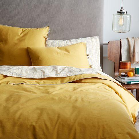 Mustard Yellow Bedding Yellow Linen Bedding Yellow Bedding