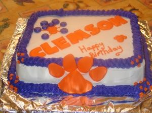 Tremendous Clemson Cake With Images Cupcake Cakes Cake Happy Birthday Cakes Funny Birthday Cards Online Eattedamsfinfo