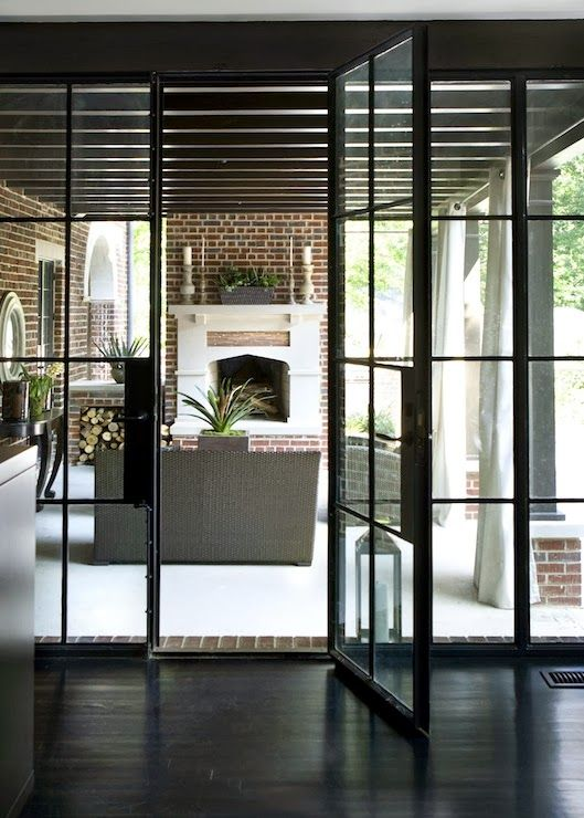 Doors To Back Patio Steel Frame Doorsi Am In Love With These