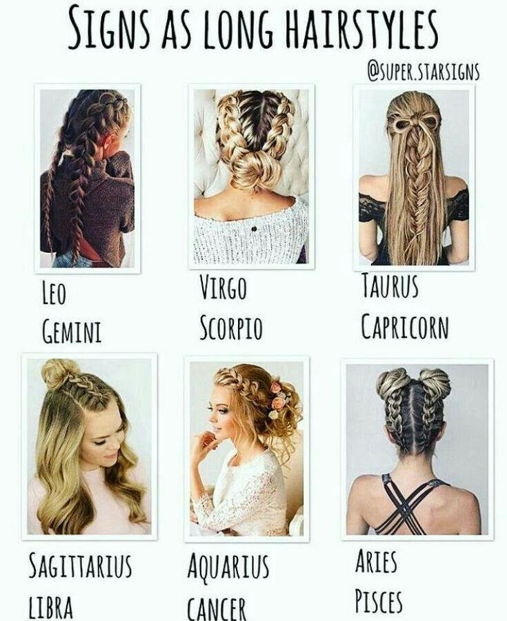 Zodiac Long Hairstyle Tierkreiszeichen Stier Sternzeichen Krebs