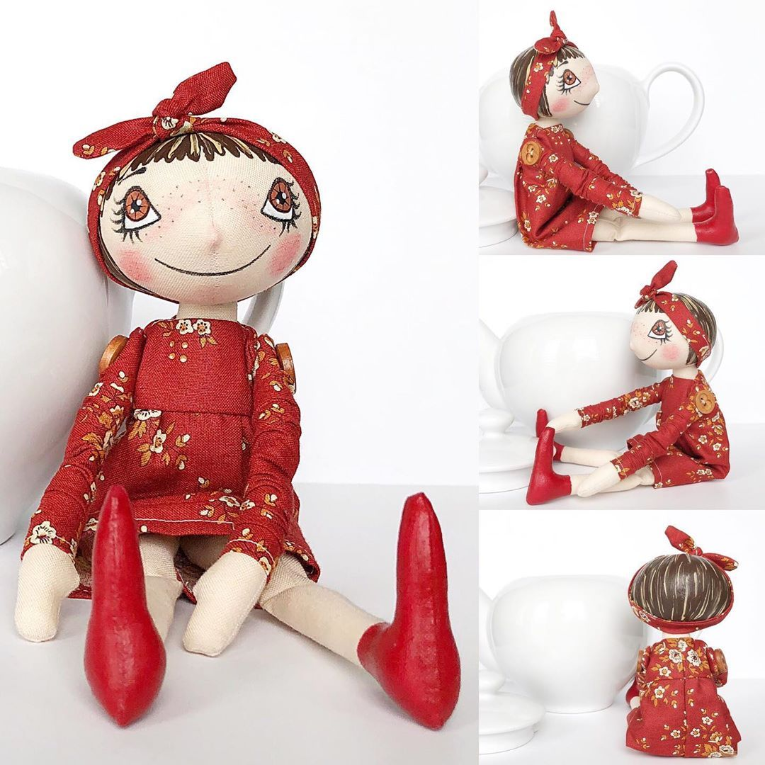 She Is Also Listed In My Online Shop On Etsy Clickable Link In My Profile Ohzuzanadolls Handmade Dolls Handmade Etsy Finds Original Prints