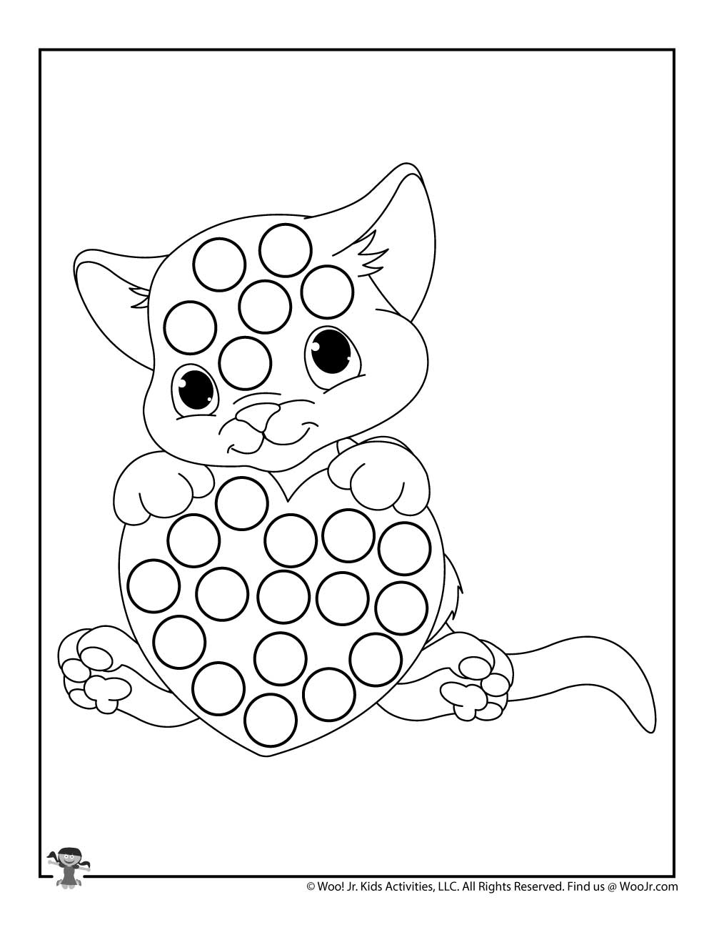 Cat Dot Marker Free Coloring Page Woo Jr Kids Activities In 2021 Dot Markers Coloring Pages Free Coloring Pages [ 1294 x 1000 Pixel ]