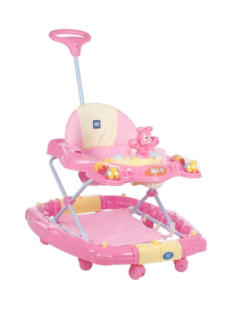 Mee mee premium baby walker with rocker pink in 2020