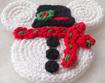 Mickey Mouse Minnie Mouse crochet pattern, Christmas Snowman, christmas decoration, home decoration