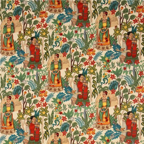 Frida Kahlo fabric Mexico garden by Alexander Henry USA 2