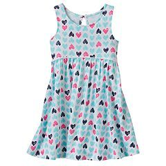 08a4692a Toddler Girl Jumping Beans® Print Racerback Babydoll Dress   Things ...