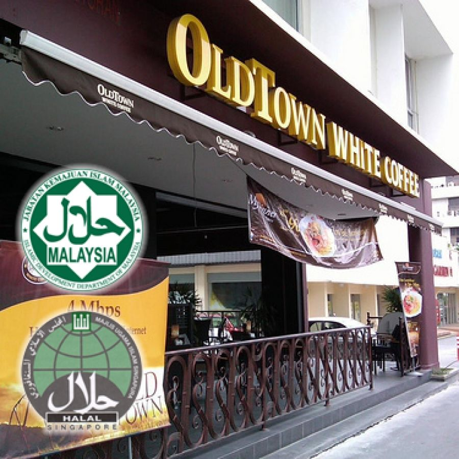 The OldTown White Coffee, (Chinese 旧街场白咖啡) is the largest