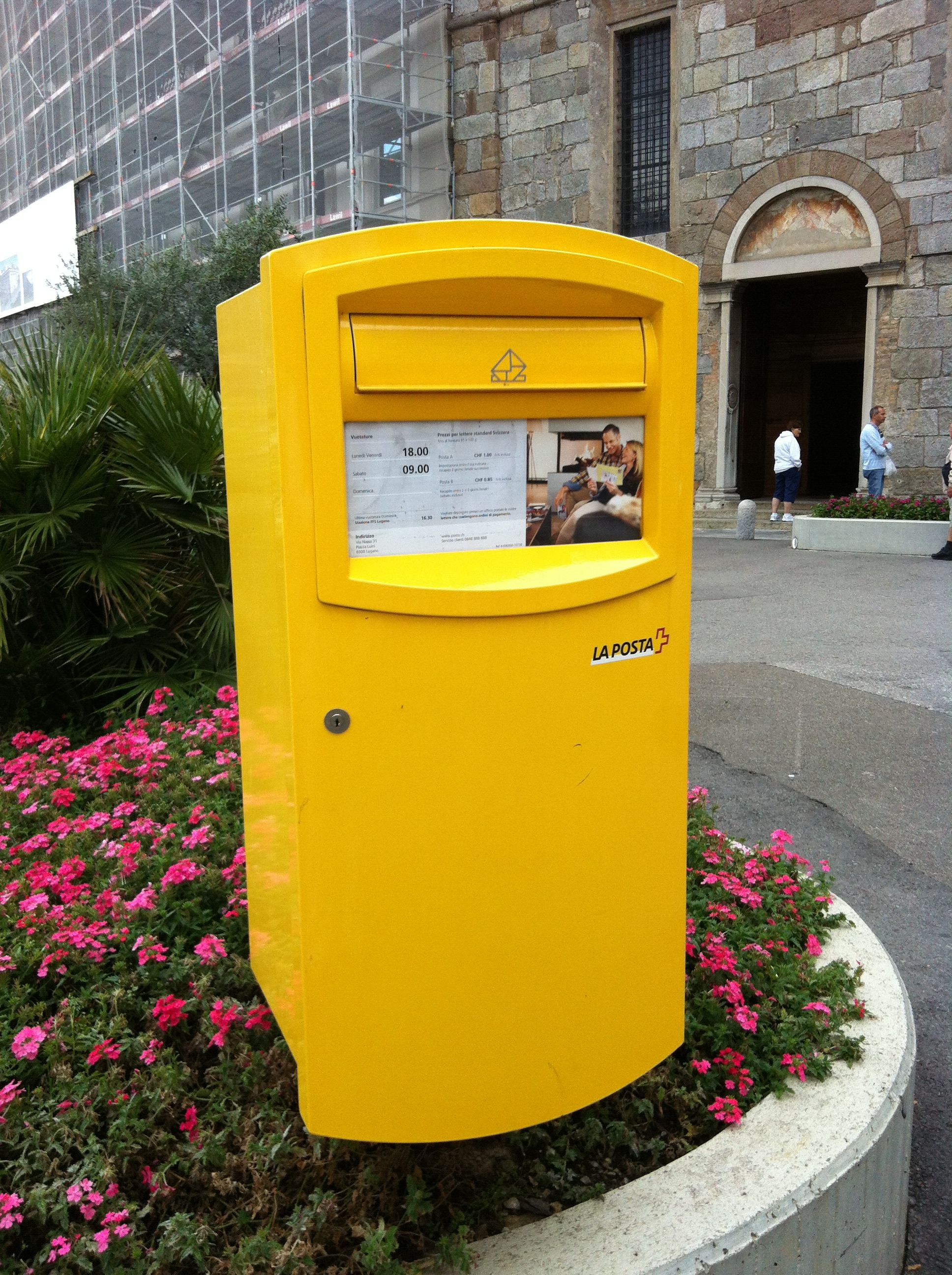 A Swiss post box from Lugano.