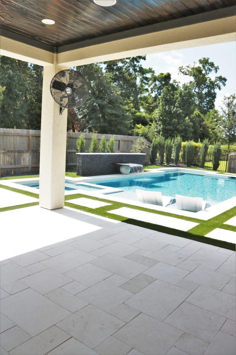 Modern Outdoor Pool And Patio Melissa Roberts Interior Design Home Decor Blog Backyard Renovations Pools Backyard Inground Backyard Remodel Modern outdoor pool areas