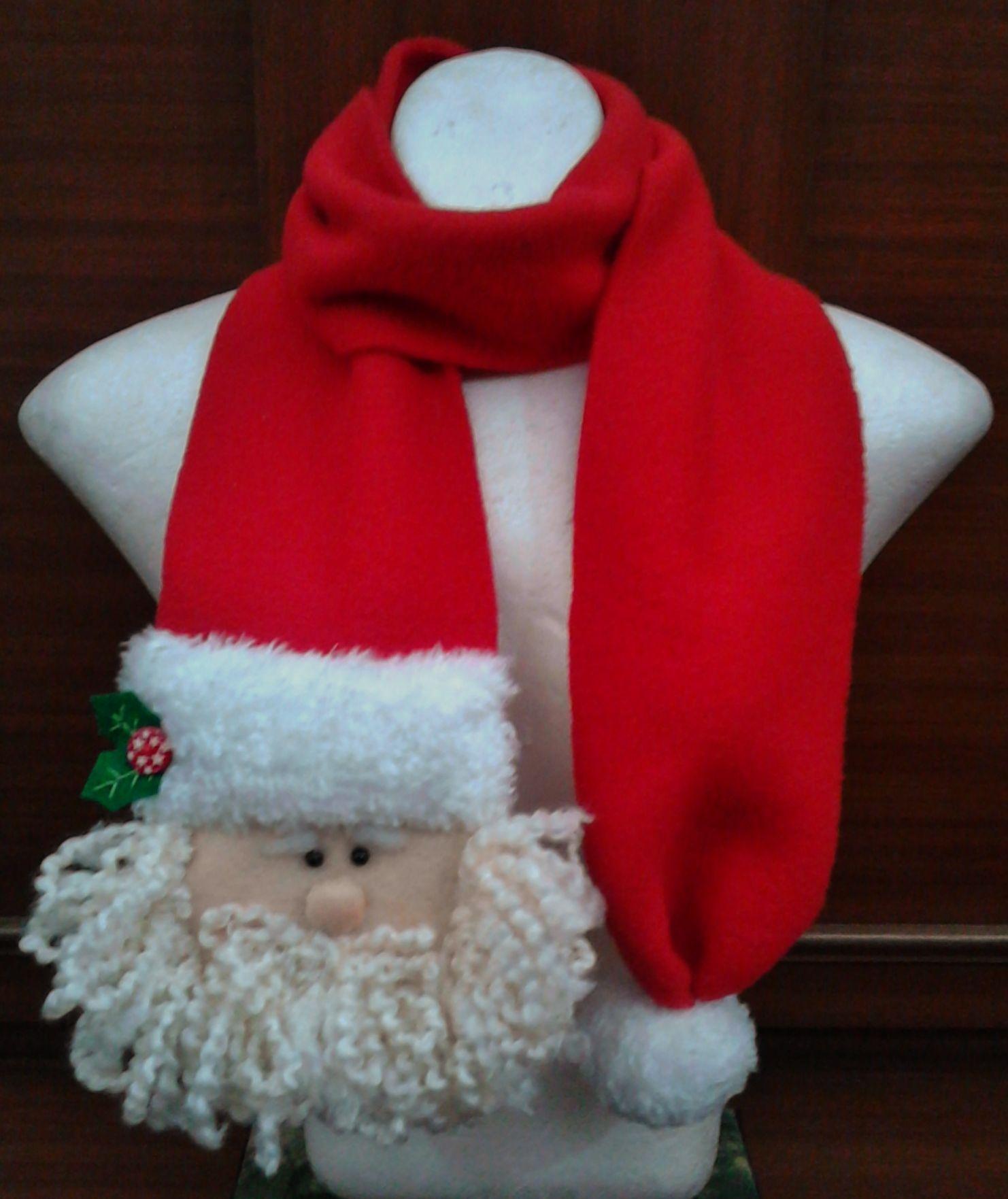Cop bufanda navide a hecha en fleese para ni os y for Manualidades de navidad para ninos