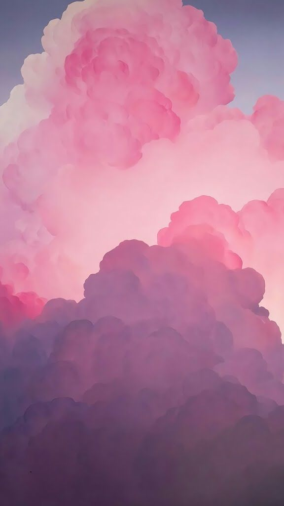 Iphone Iphone Wallpaper Pink Cloud Painting Pink Clouds