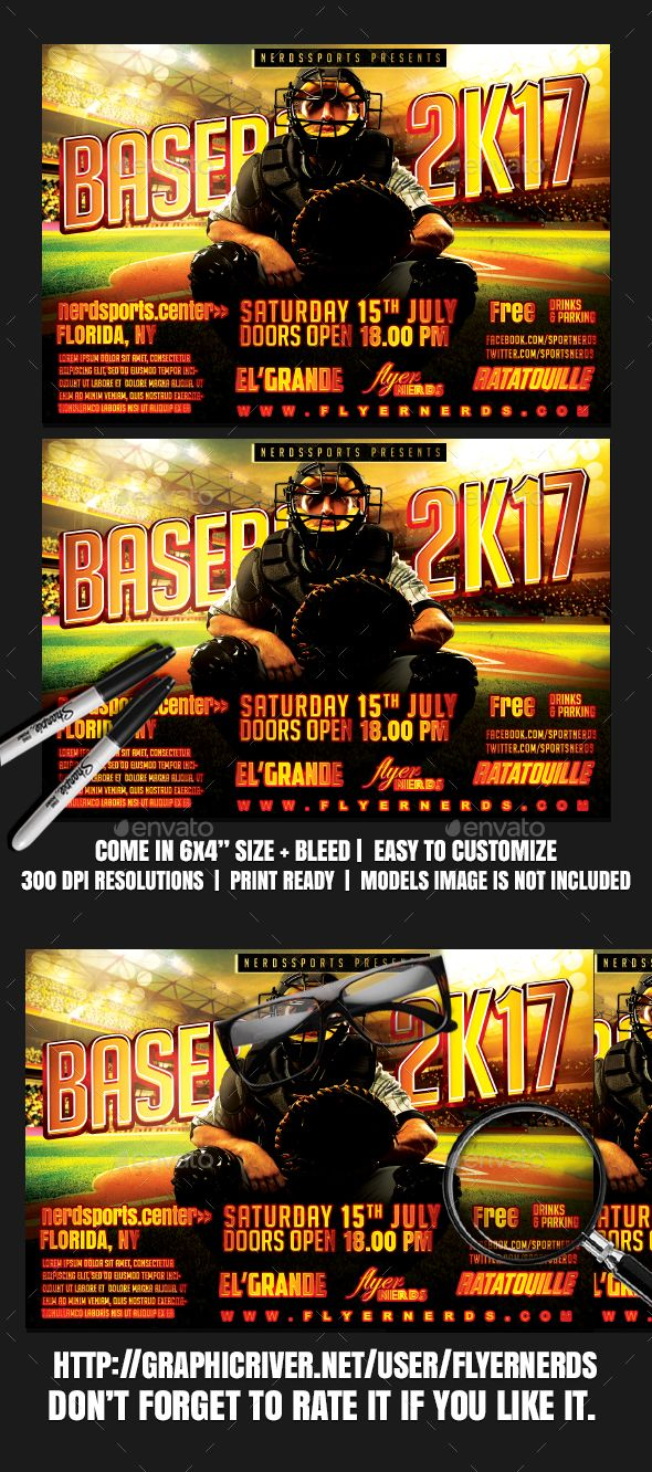 Baseball K Sports Flyer  Event Flyers Flyer Template And Font