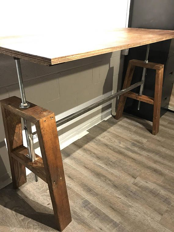 Diy Height Adjustable Sitting Standing Desk Threaded Lift Diy