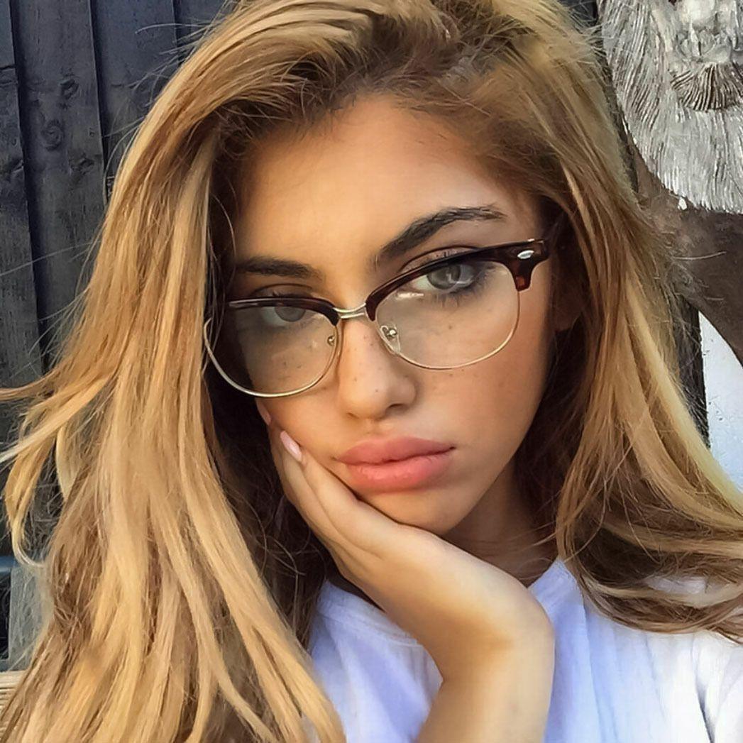 WOMEN/MEN Fashion Club Style Glasses Clear Lens Half Frame Retro Nerd Eyewear – Smart Product Affiliate