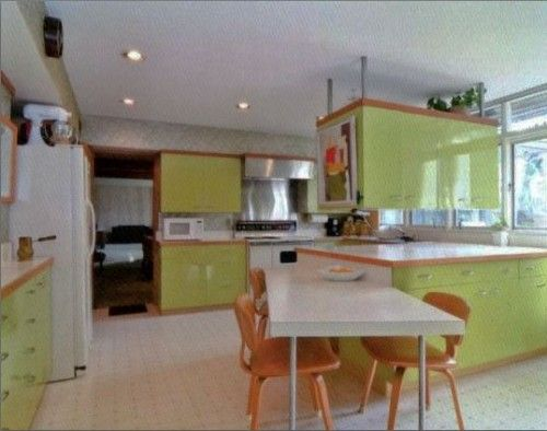 Custom Green 1964 St. Charles Kitchen