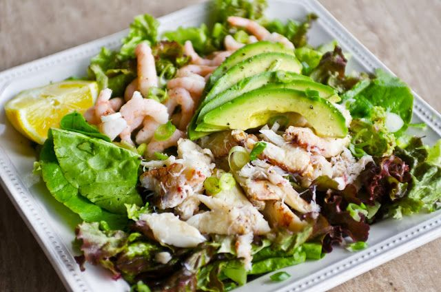 Crab and Avocado Salad with Creamy Louis Dressing