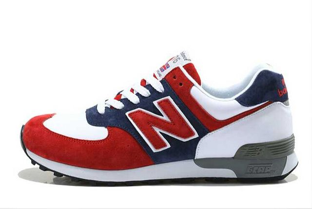 new balance red white and blue shoes