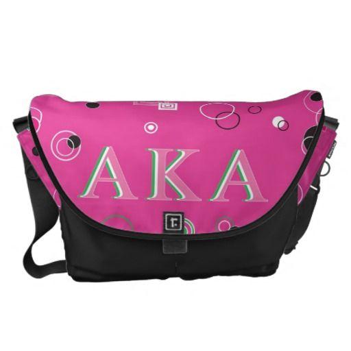 Alpha Kappa Alpha LARGE Messenger Bag - Black Base