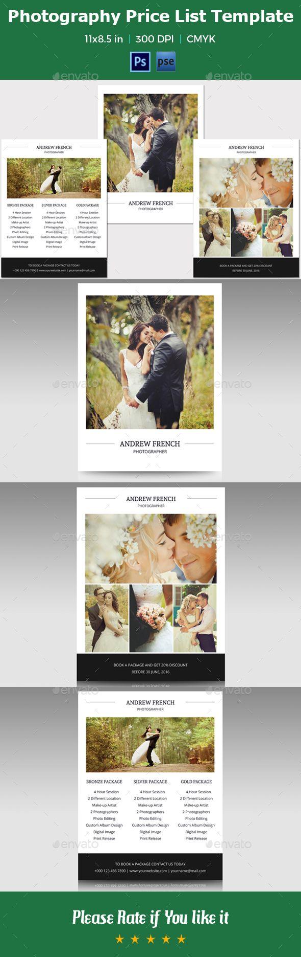 Photography Marketing Flyer / Price Listv02 — Photoshop Psd #photographer  Flyer #psd Flyer •