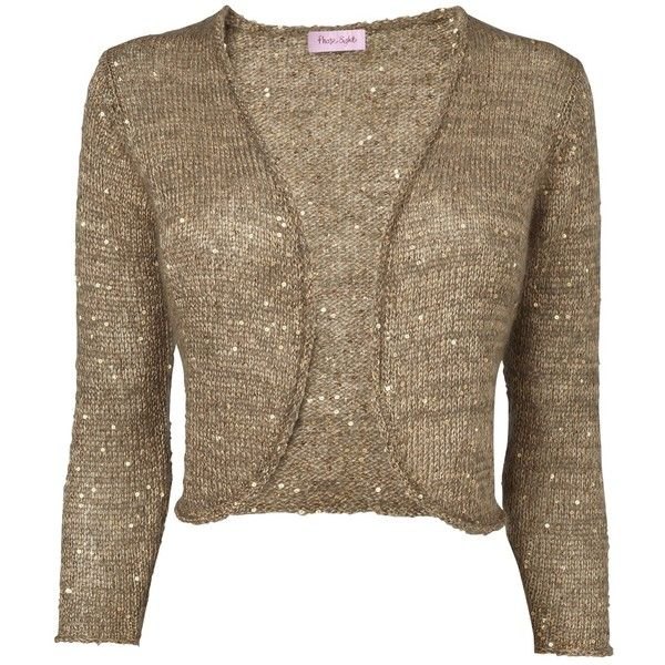 Phase Eight Sequin Shrug , Gold ($42) ❤ liked on Polyvore ...