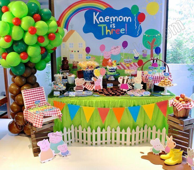 Ideas Para Decorar Mesas De Postres En Fiestas Infantiles George Pig Birthday Party Peppa Pig Birthday Party Peppa Pig Birthday