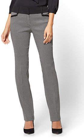 4dc53958004c New York & Co. Petite 7th Avenue Pant - Straight Leg - Signature - Mini  Check