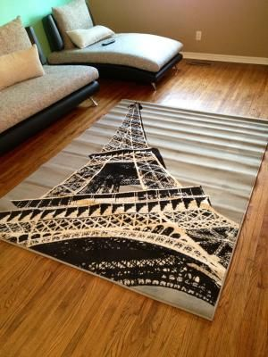 Walmart Terra Paris Rectangle Area Rug Grey Black Cream Paris Room Decor Paris Themed Room Paris Bedroom