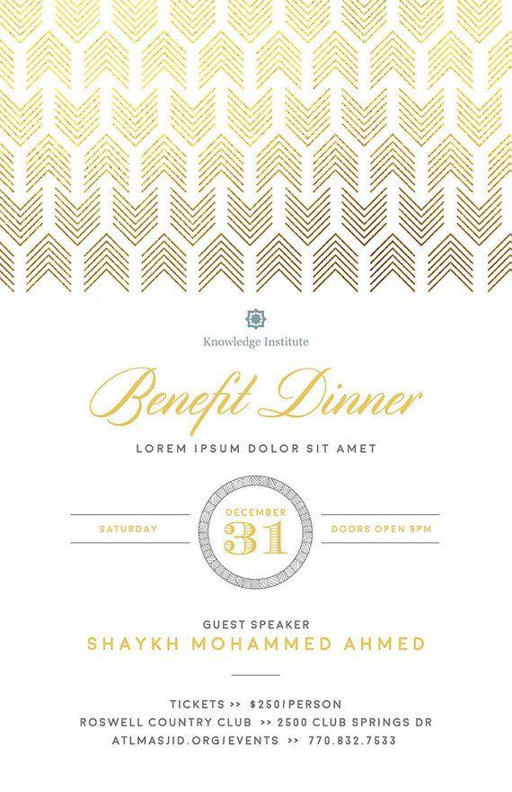 DIY Printable Event Flyer Template Formal Gala Invitation Word