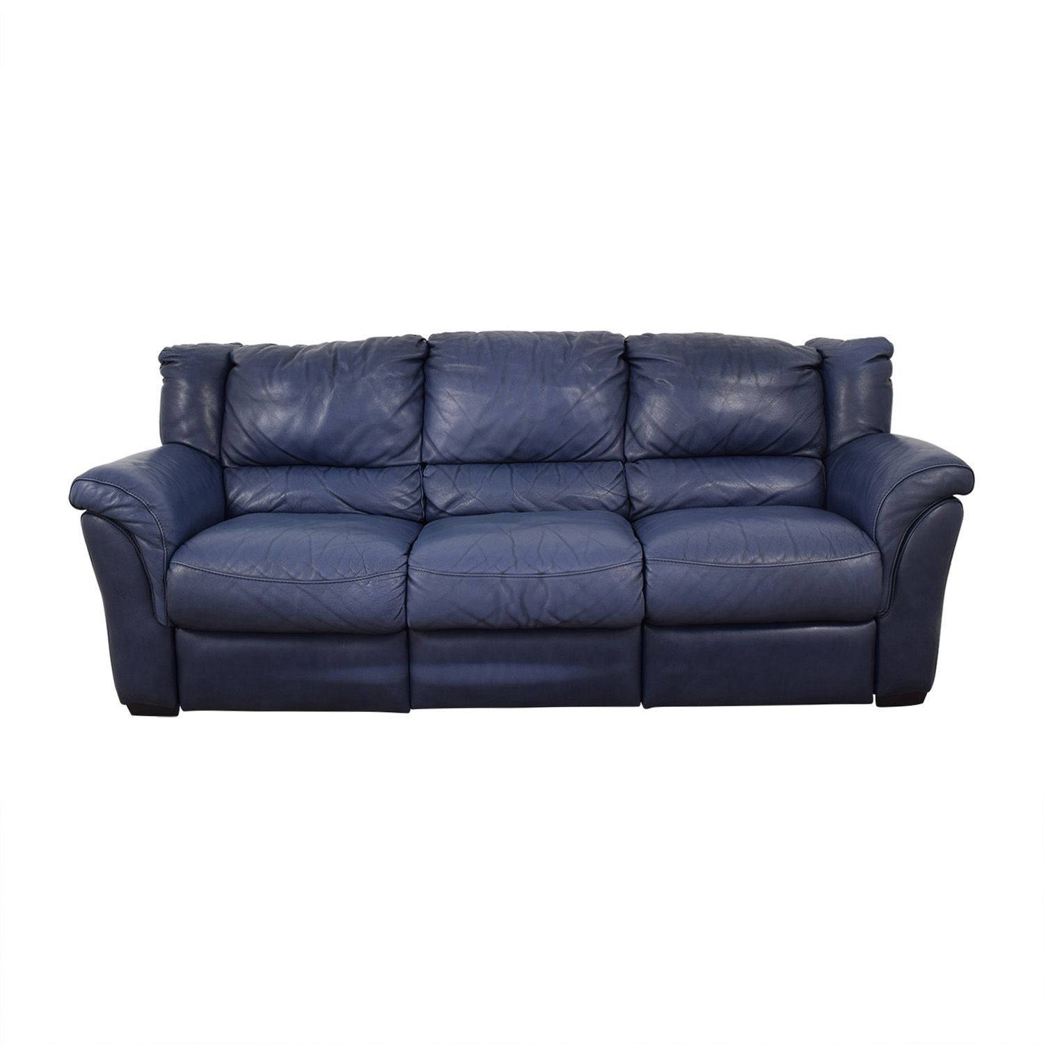 86 Off Chateau D Ax Chateau D Ax Blue Three Cushion Reclining Couch Sofas Recliner Couch Classic Sofa Sofa Couch