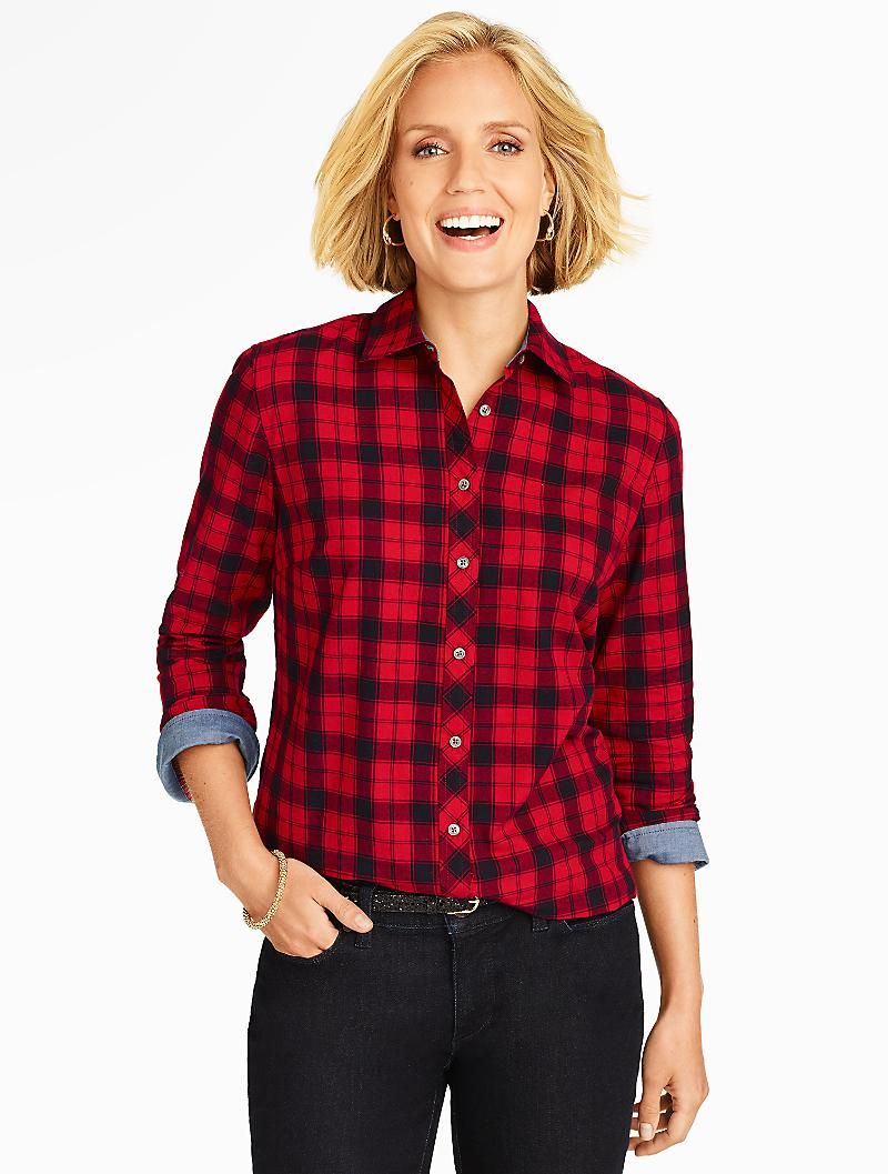 Flannel shirt under suit  I like the red flannel  Christmas Ideas  Pinterest  Talbots