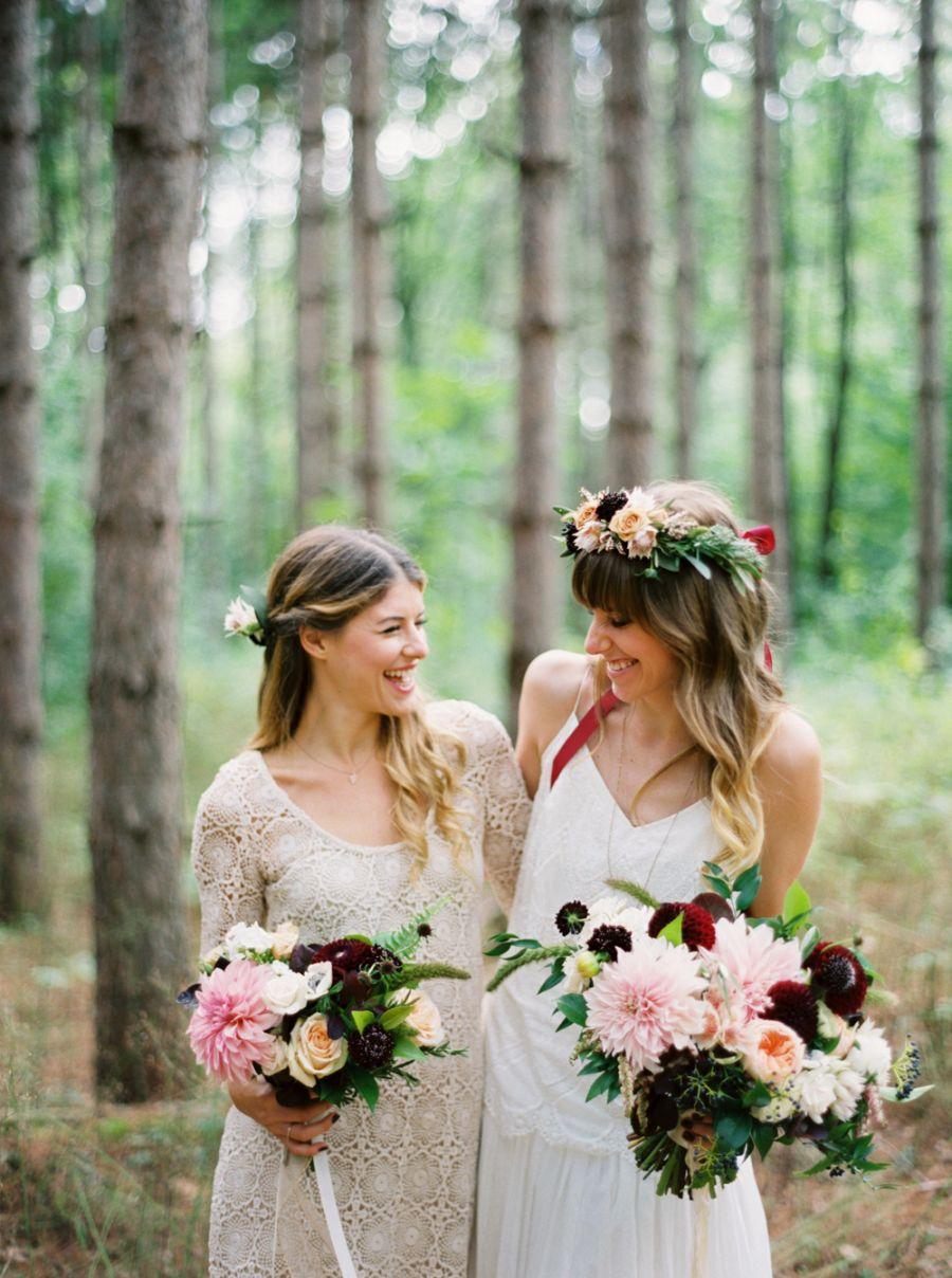 Boho outdoor wedding in ontario rose photography wedding set and
