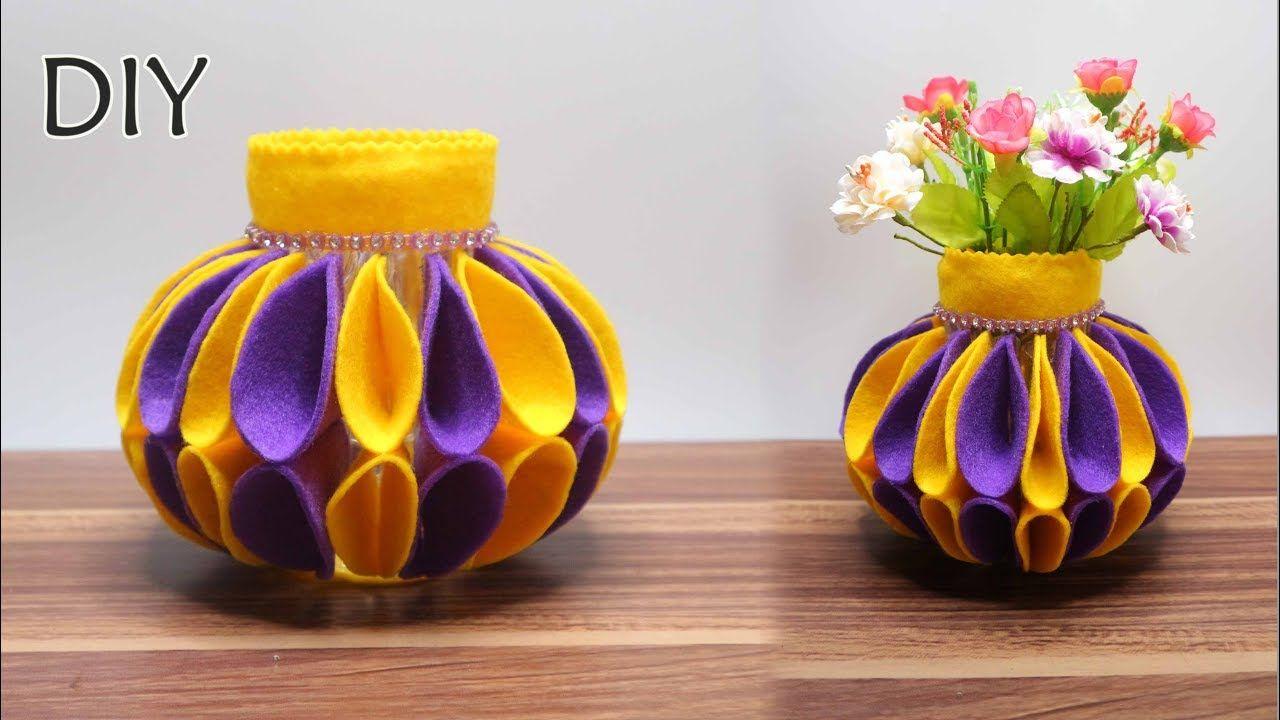 Vas Bunga Dari Botol Bekas Kreasi Botol Bekas Bottle Craft
