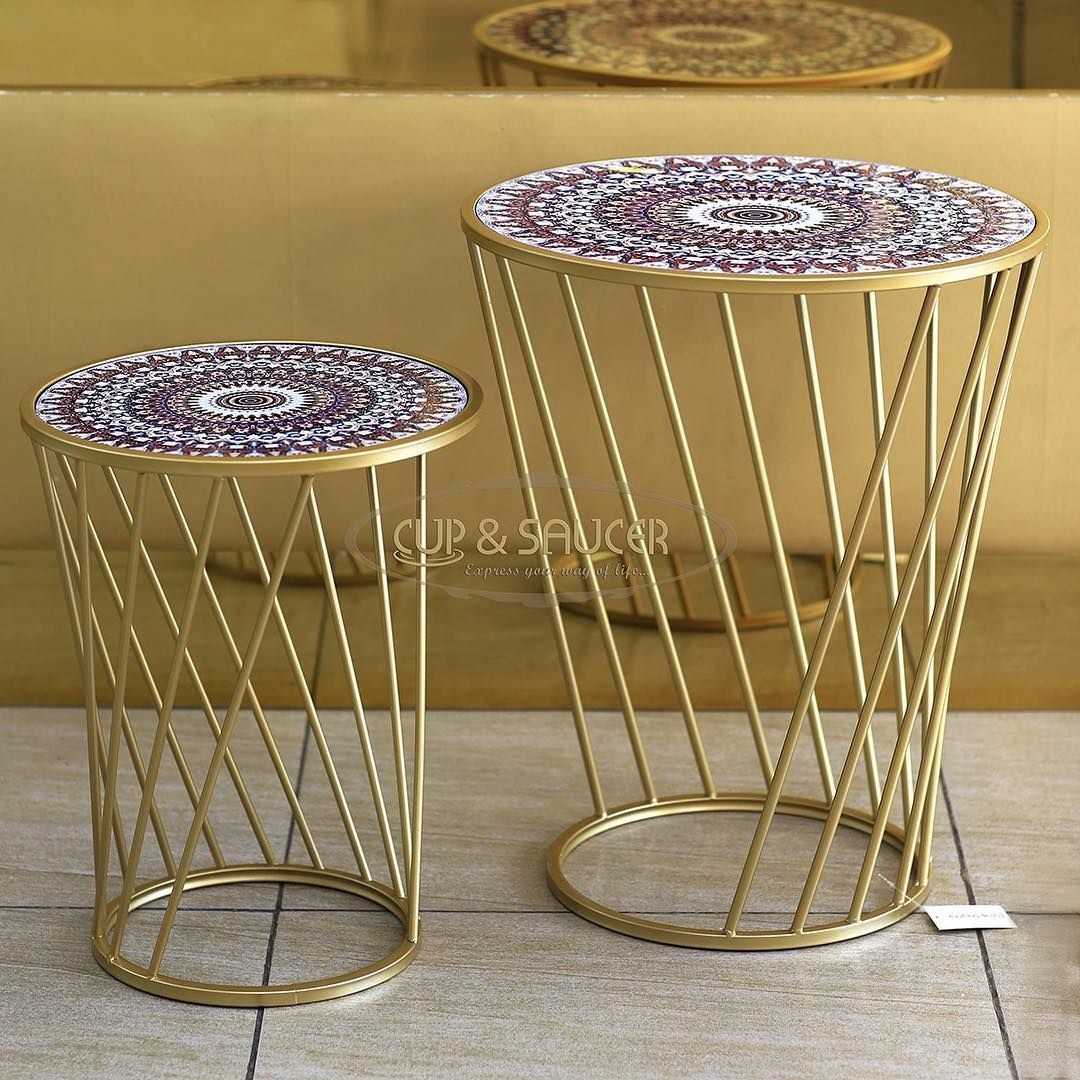 Style Your Living Space With These Beautiful Vibrant Side Tables جددي ديكور غرفة الجلوس باضافة طاولات جانبية مميزة Cupandsaucer Table Decor Home Decor