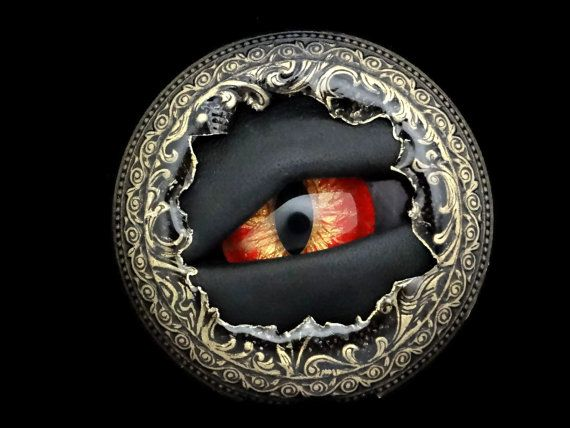 Dragon Eye Pin Brooch Sightmares Red and by DrBrassysSteampunk, $41.00