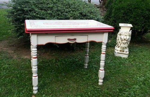 Old Metal Enamel Or Porcelain Kitchen Table Top Kitchen Table Kitchen Table Vintage Kitchen Table