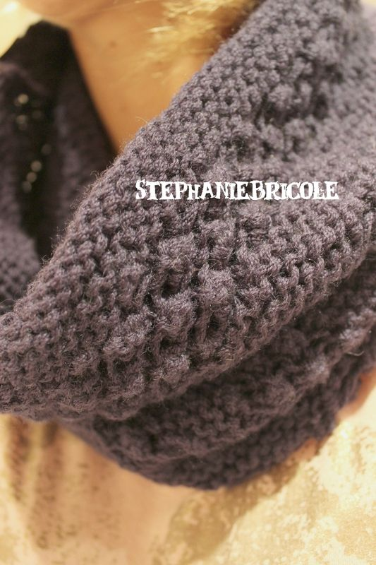 tricoter un snood aiguilles circulaires