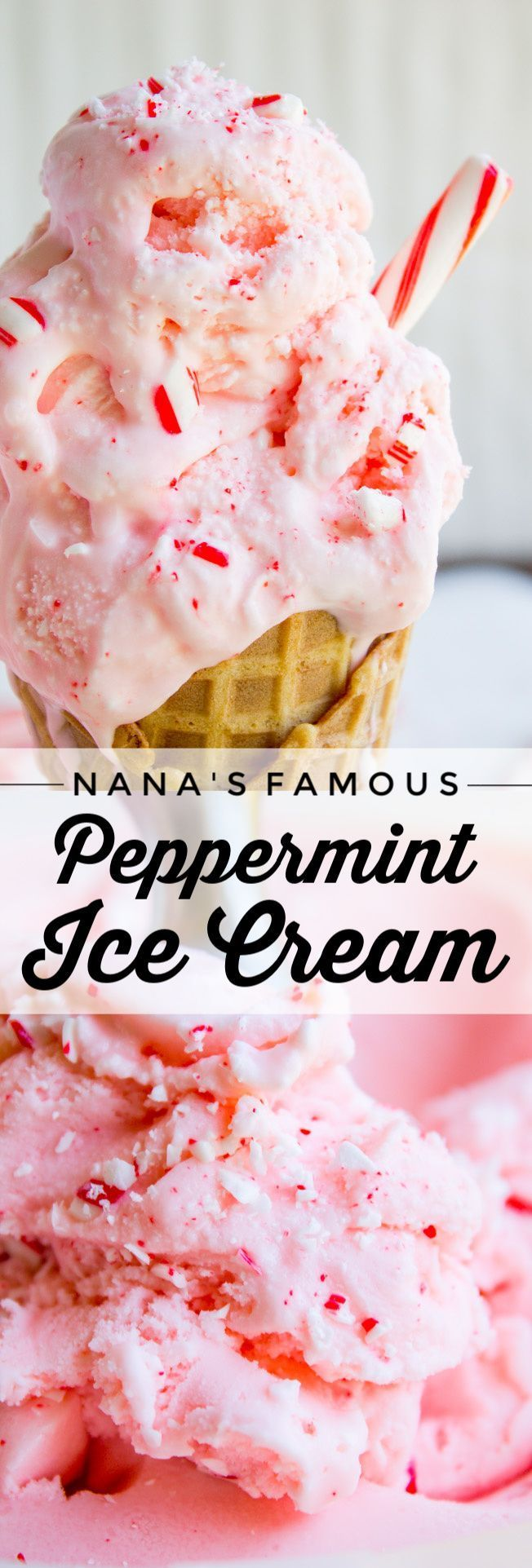 Famous Homemade Peppermint Ice Cream from The Food Charlatan. If you want the BEST and easiest Home