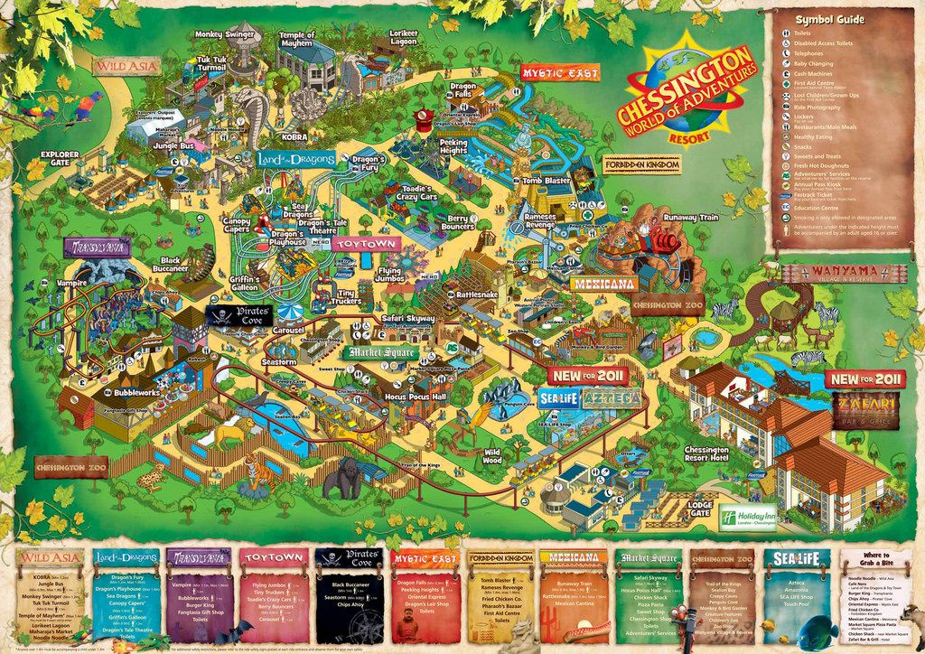 Image result for chessington world of adventures map