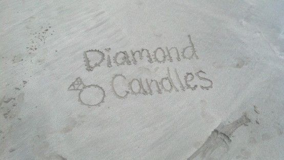 """Your social media & community director (me!)  made this photo while on a """"tropical retreat"""" at Magen's Bay in St.Thomas, USVI. Taking #diamondcandles everywhere we go!"""