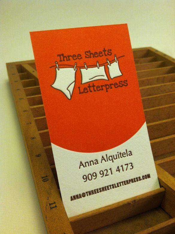 Three Sheets Letterpress