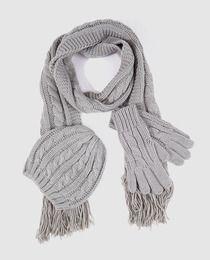 5ed4eda7a Estuche de Navidad con conjunto de bufanda y gorro gris | Cosas que ...