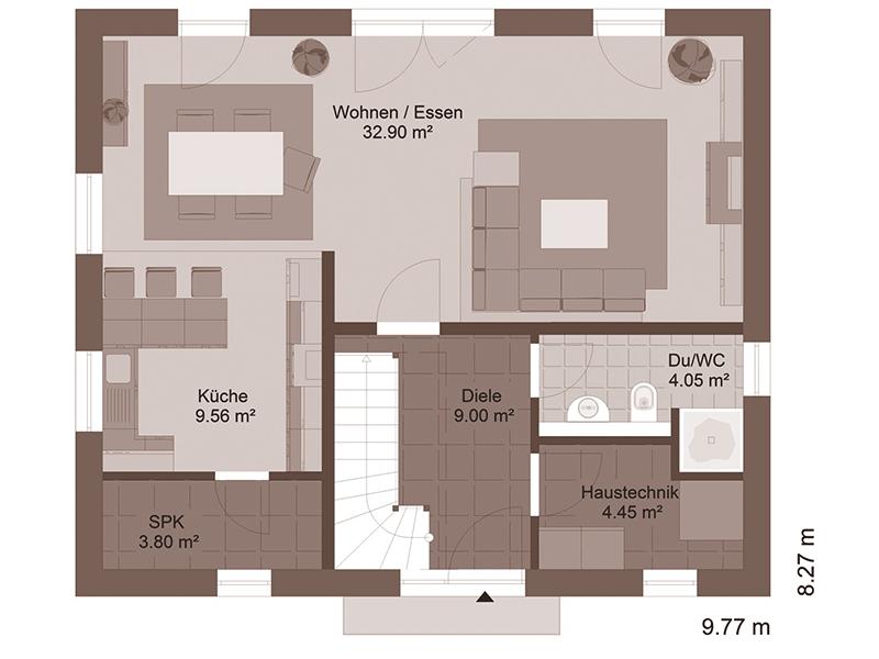 GENO Livingstar 5 - Klassische Architektur   - Haus Grundriss