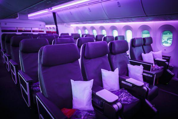 Virgin Atlantic Birthday Girl Premium Economy Cabin/Virgin